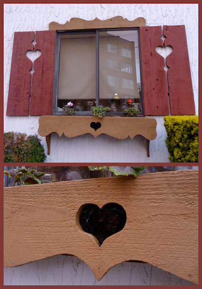 Heart-shaped shutter & window-box cut-outs at the Victoria Edelweiss Club (Victoria, BC) (by Stephen Lund)
