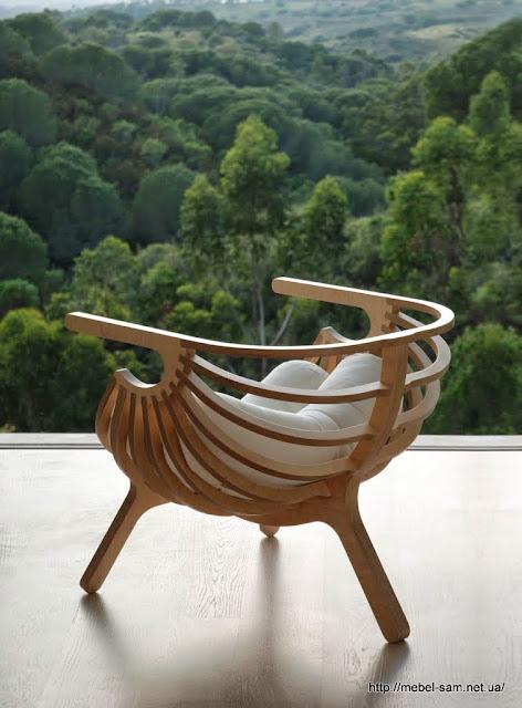 Фанерное кресло ракушка от Branca-Lisboa