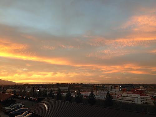 Sunset Looking NorthWest over Salt Lake Valley copyright 2014 Douglas Cootey