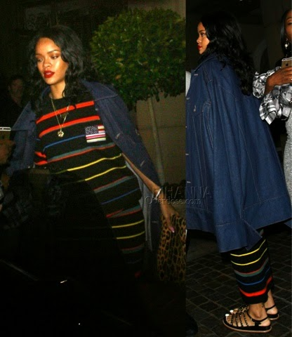 Rihanna at Montage Hotel in Givenchy