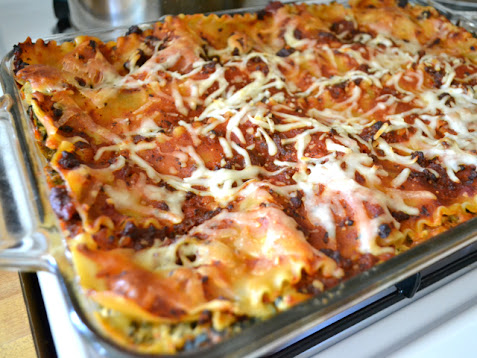 baked spinach artichoke lasagna