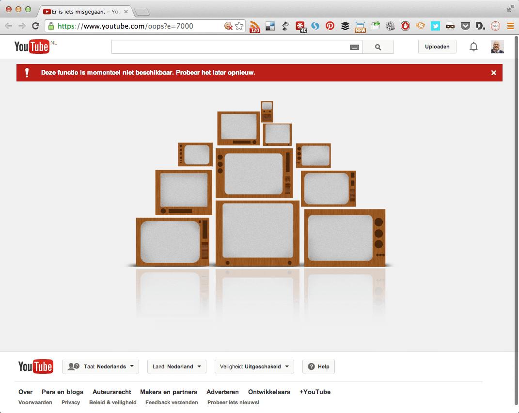 YouTube is Down (ERROR 7000)