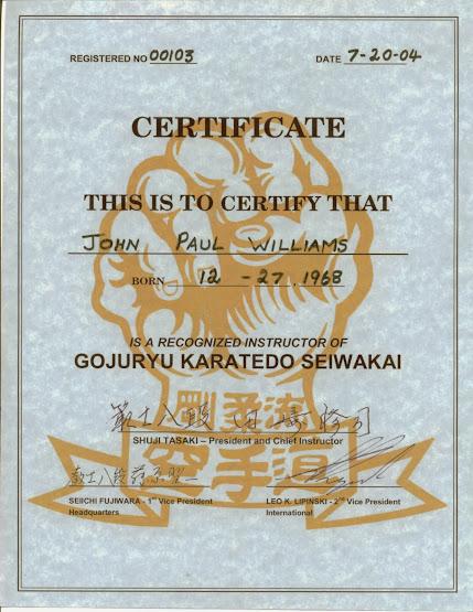 Sensei Menkyo Seiwa Kai International