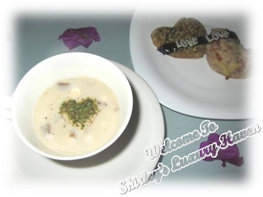 valentines day cream of mushroom with bruschetta recipe