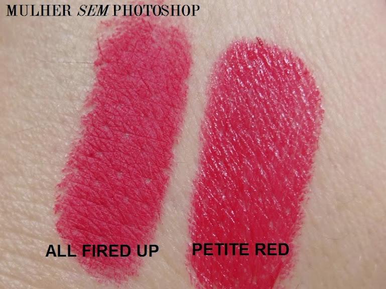Resenha do Petite Red Mac Julia Petit - comparação All Fired Up