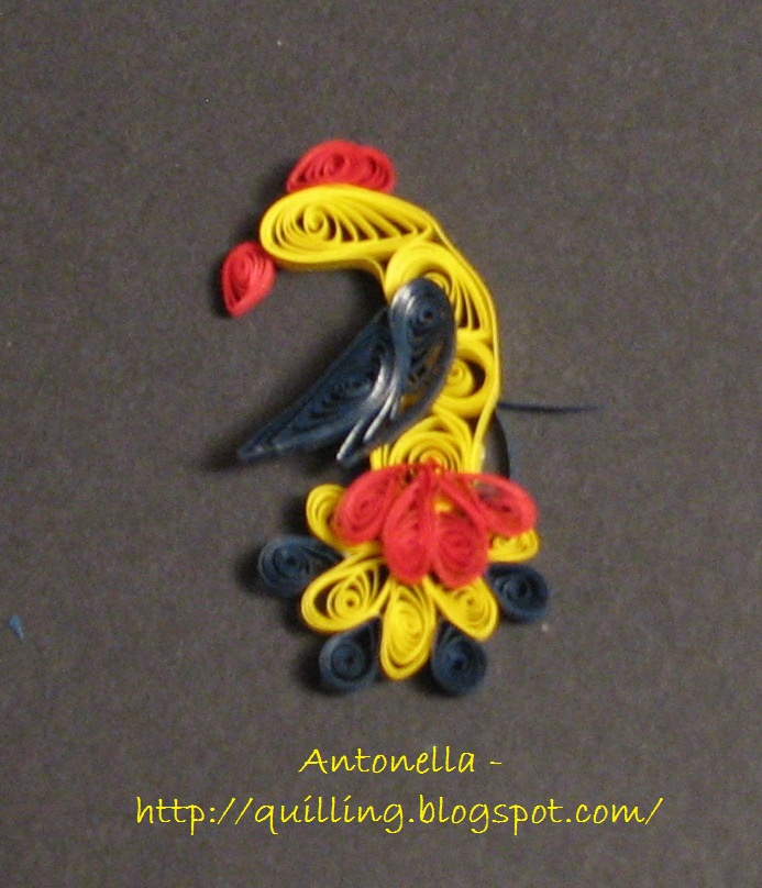 free quilled folk art bird pattern
