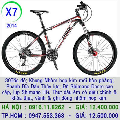 xe dap the thao TrinX X7 2014 xe đạp thể thao