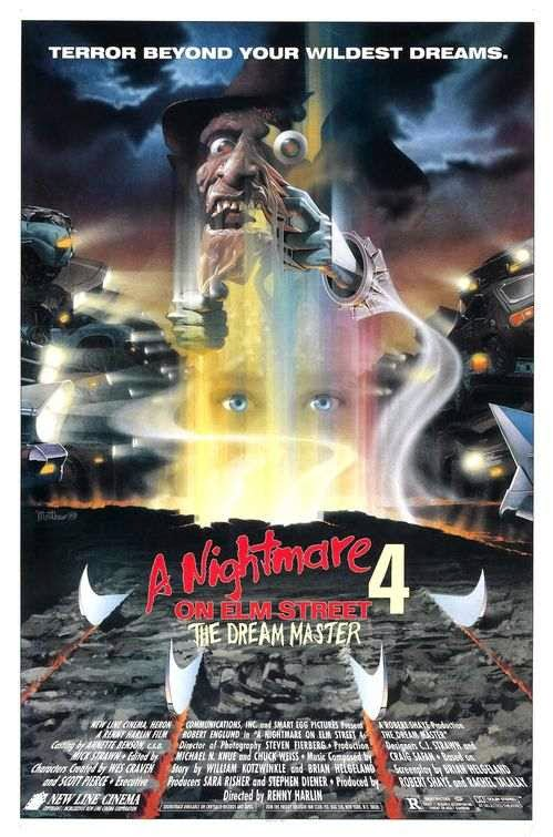 Poster Of A Nightmare on Elm Street 4: The Dream Master (1988) Full Movie Hindi Dubbed Free Download Watch Online At Alldownloads4u.Com