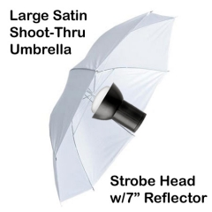 White Satin Umbrella Setup - Thorsten Ott Photography St. Louis