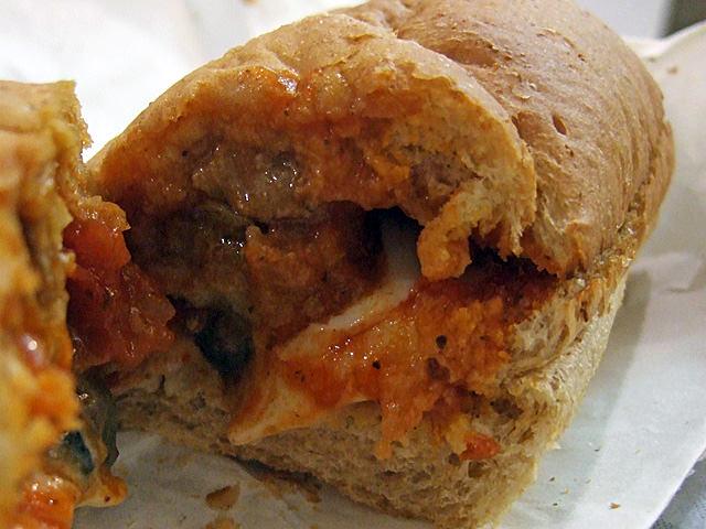 Subway meatball sandwich