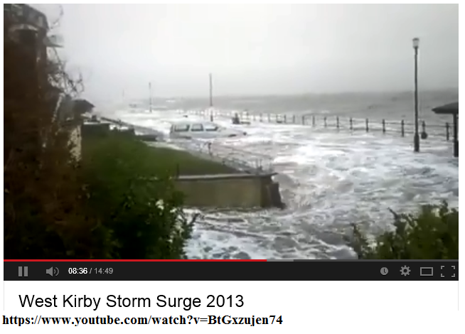 6th dec 2013 storm surge west kirby england