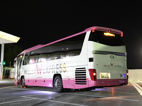 ウィラーエクスプレス西日本「ニュープレミアム」 ・367 リア 御在所SAにて