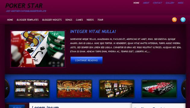 Poker Stars Blogger Template