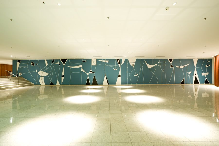 Brazilian modernism modern design by for Contemporary resort mural