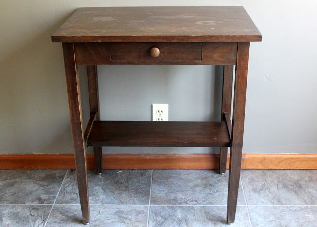 Rustic side table from the rental inventory of www.momentarilyyours.com, $10.00.