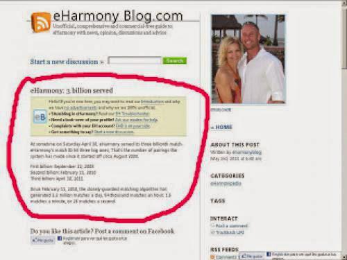 Eharmony 3 Billion Served