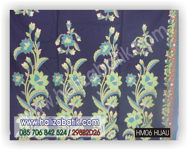 Gambar Kain Batik, Motif Kain Batik, Model Batik, HM06 HIJAU