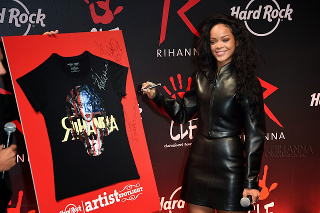 Rihanna Hard Rock Cafe Charity Tee