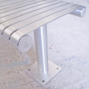 Стальная скамья, которая прикручивается к полу