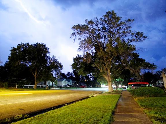 Lightning strike viewed from home