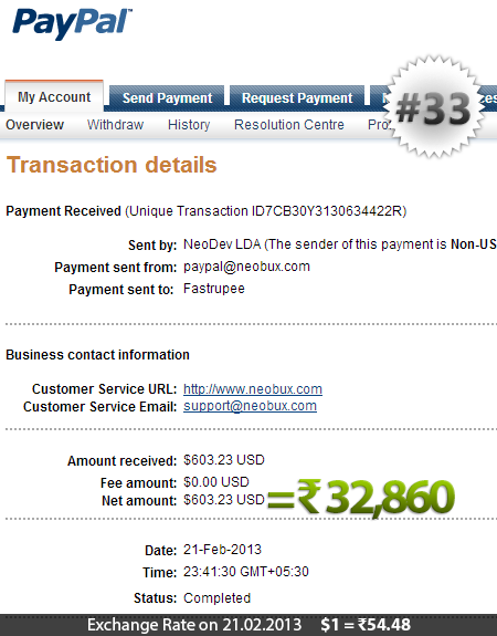 Neobux Payment Proof 33