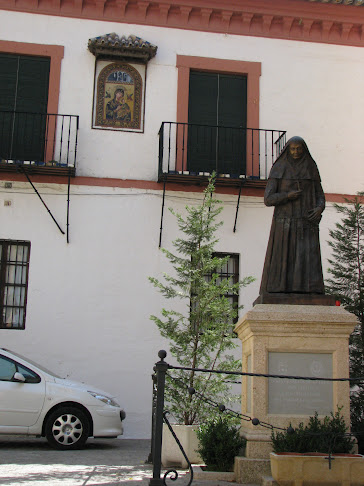 Statue of the saint outside Iglesia de Santa María de la Asunción, Carmona, Spain