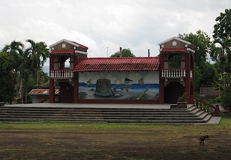 open-air stage at the plaza of San Juan, La Union