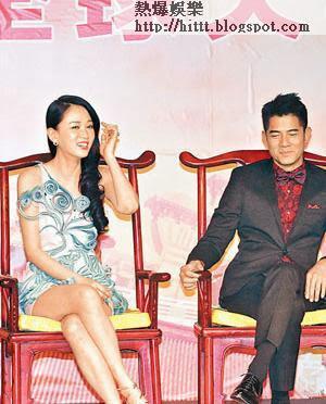 陳喬恩(左)、郭富城(右)