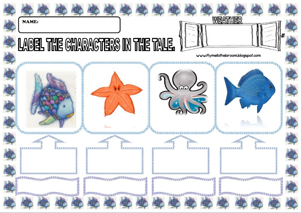 Fly me to the broom: Rainbow Fish: Label the character