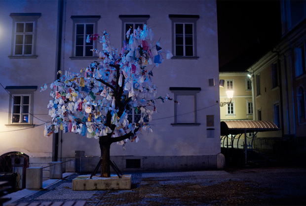 Recycled Plastic Bag Installations by The Miha Artnak