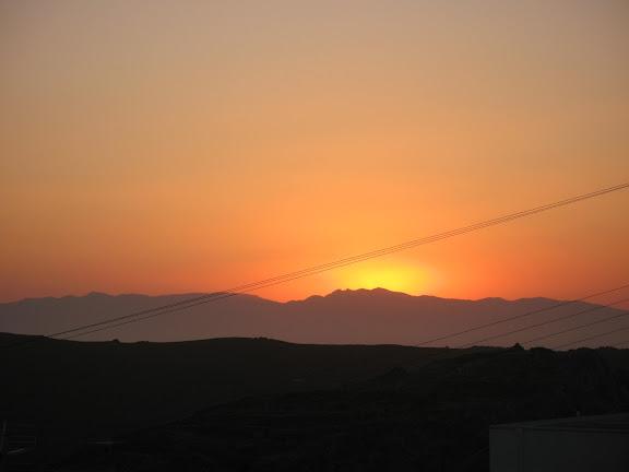 Atardecer desde Tholaria, en Amorgós