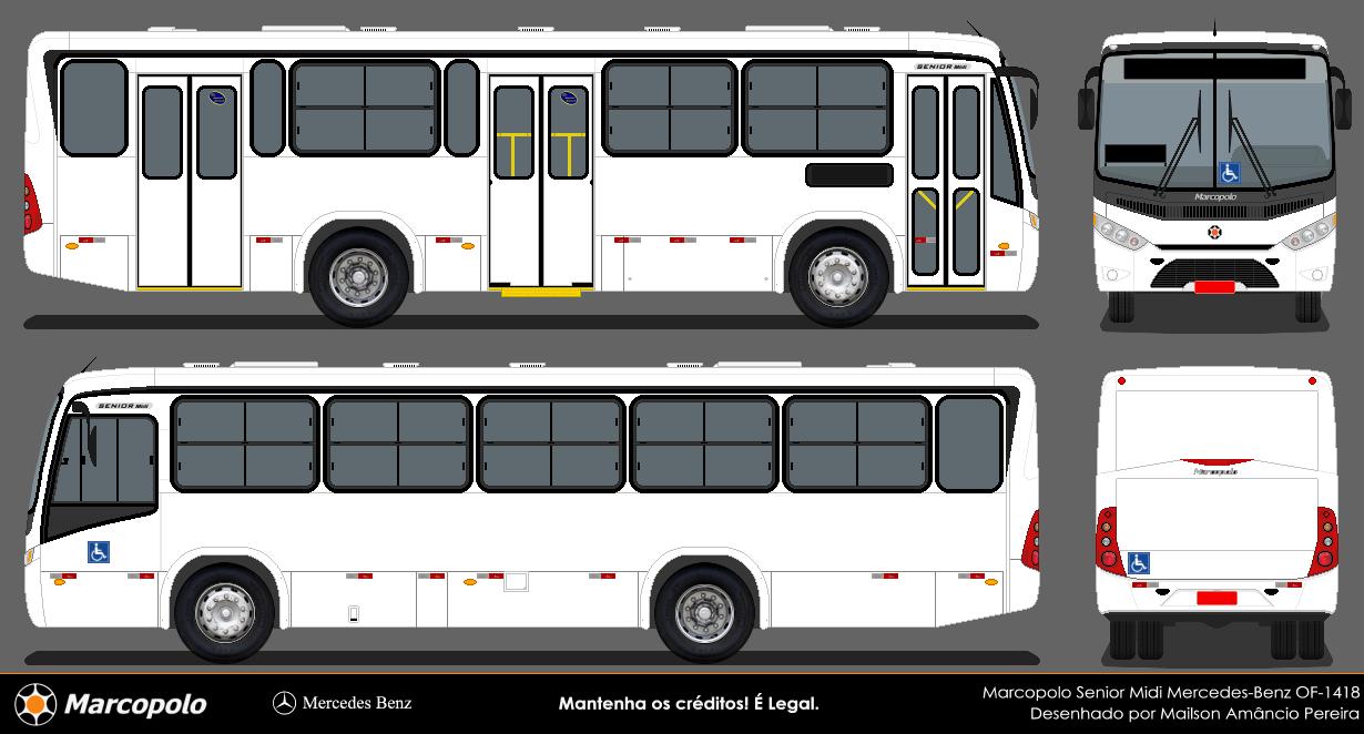 Desenhos bus em branco marcopolo for Table 52 go bus