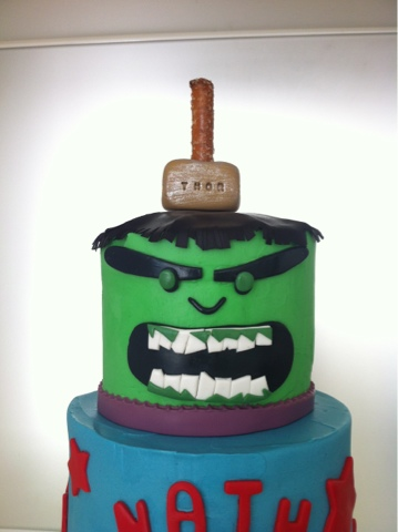 Will Run for Food Avengers Cake with Thor The Incredible Hulk