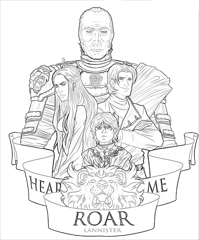 House Lannister game of thrones coloring pages