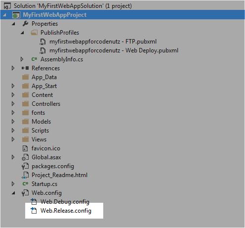 Web.Release.Config in Solution Explorer