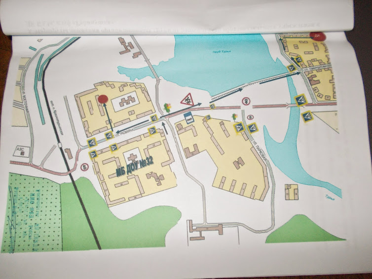 На схеме района расположения