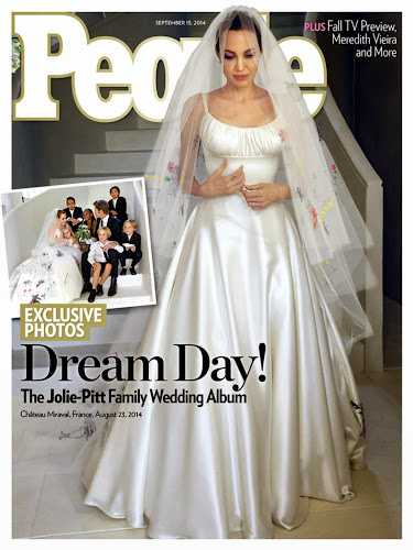 See Angelina Jolie's Wedding Dress 1