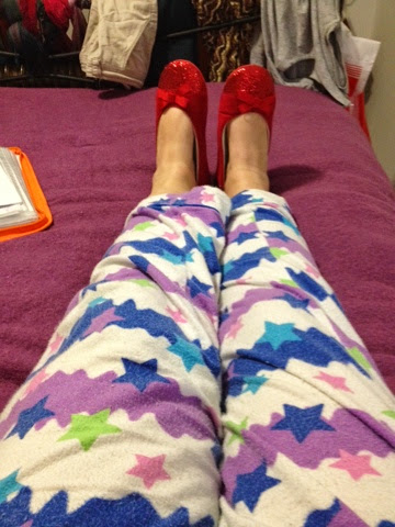 Jacqstar Creations, art, crochet, pajamas, Peter Alexander, ruby slippers