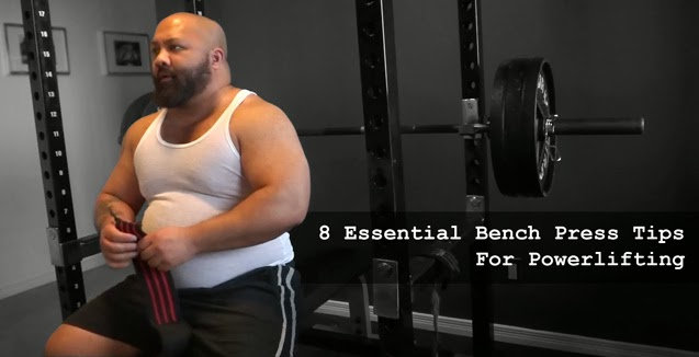 Thick Powerlifter Bench Pressing
