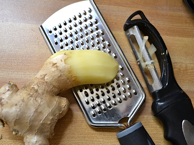 peel grate ginger