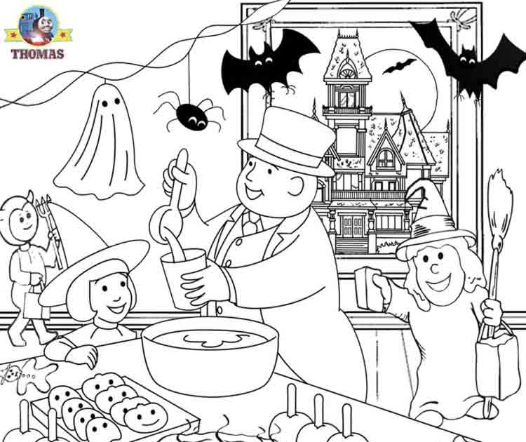 h is for halloween coloring pages - photo #49