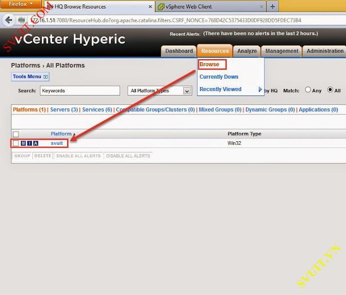 Configure vSphere vCenter Hyperic (5)