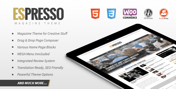 ESPRESSO - Magazine / Newspaper WordPress Theme
