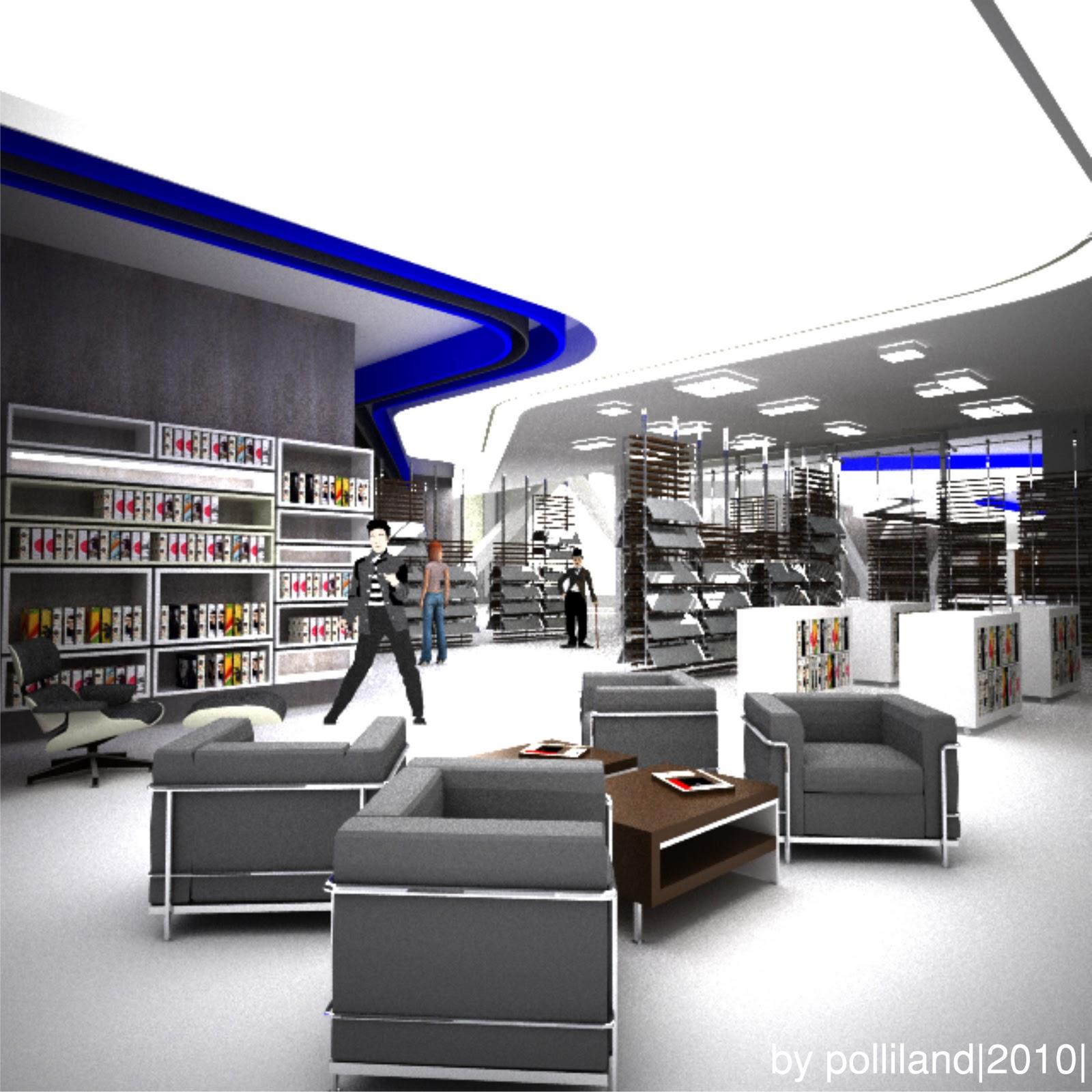 Polliland espacio interior biblioteca 2010 - Bauhaus iluminacion interior ...