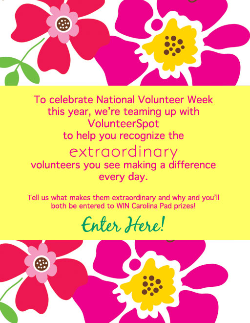 Do you know a special volunteer who deserves some recognition?