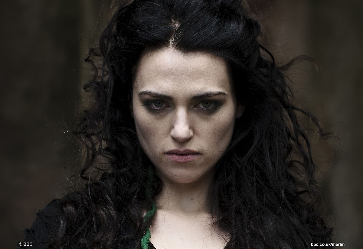 BBC Merlin Katie McGrath is Morgana The Darkest Hour