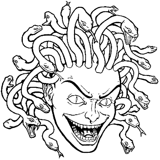 Medusa coloring page federalgrantsource for Medusa coloring pages