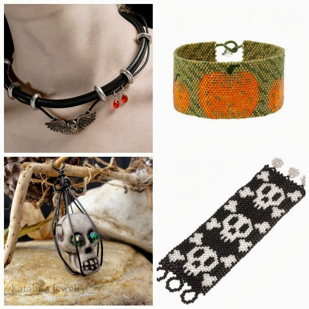 Halloween Beading and Jewelry Tutorials