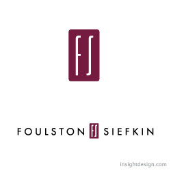 Foulston Siefkin logo design Wichita and Kansas City, KS