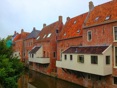 Picture of the hanging kitchens in Appingedam, Groningen.